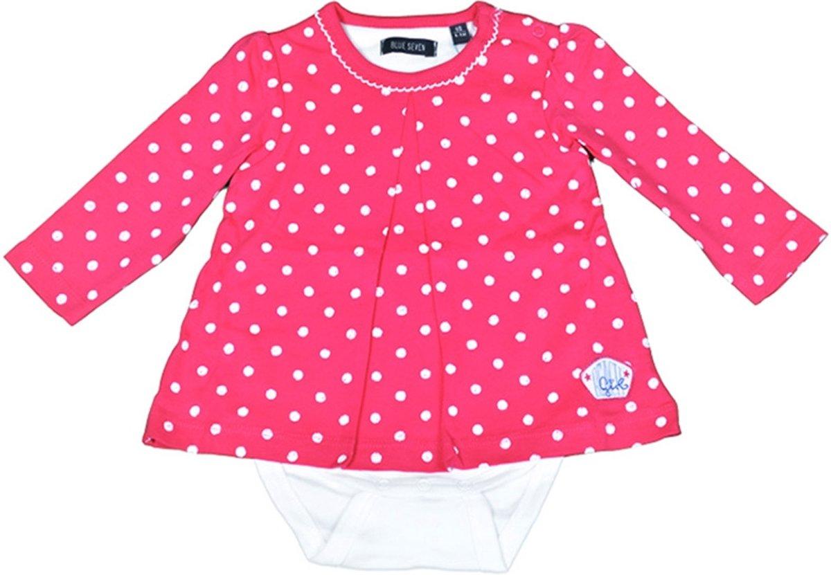 7cd72b5f833dd2 Blue Seven Meisjes Romper jurkje - Rood - Maat 62 - Babykleding Winkel