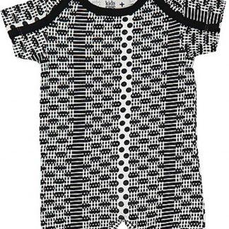 Kidscase Jumpsuit zwart-wit maat 68