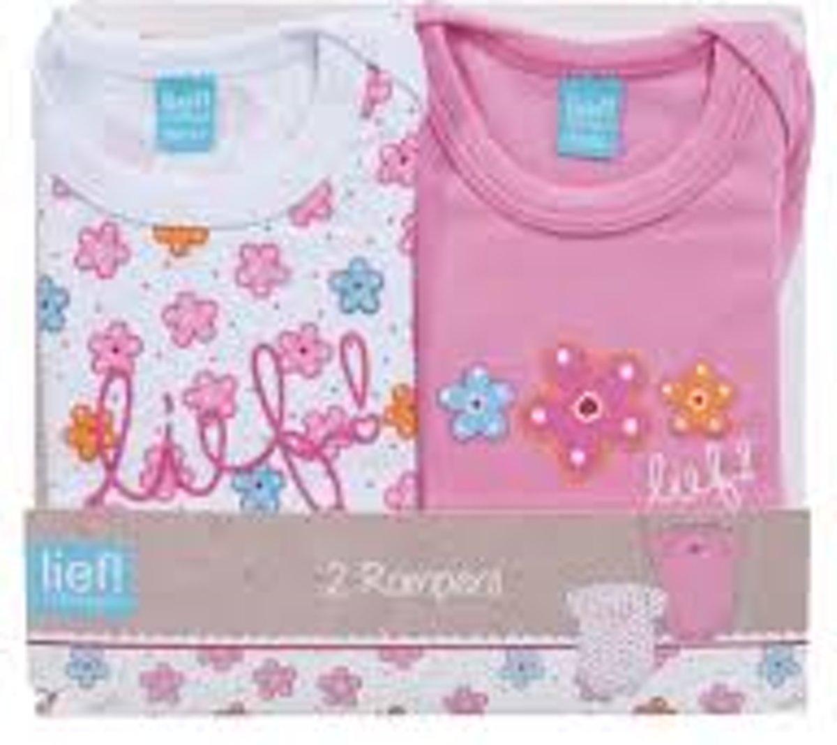 94eed704536888 Lief! 2 Pack Rompertjes voor Meisjes Roze maat 74-80 | Babykleding ...