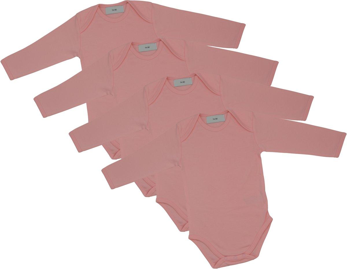 Roze Babykleding.Link Kidswear Meisjes Rompertje Baby Roze Maat 74 80