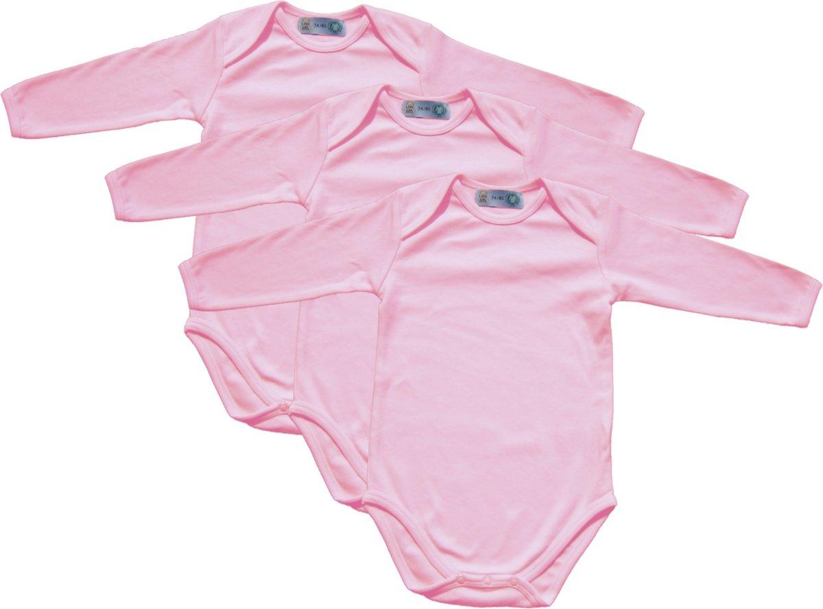 258f5db871945c Link Kidswear - Meisjes lange mouw romper van biologisch katoen - maat 74/80  -