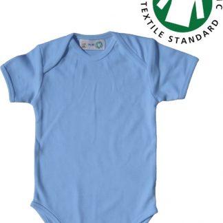 Link Kidswear jongens rompertje met korte mouw - Babyblauw - Maat 50/56