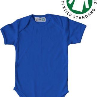 Link Kidswear jongens rompertje met korte mouw - Deep Royal blauw - Maat 74/80