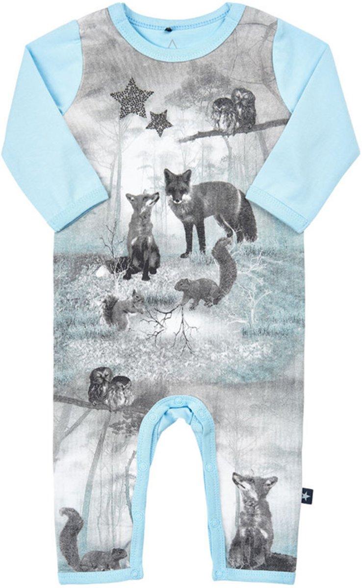 Babykleding Jongen Maat 74.Me Too Jongens Boxpak Organic Cotton Lichtblauw Met Dieren Maat 74