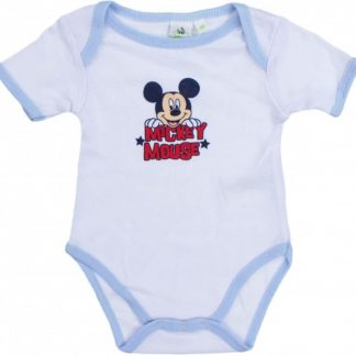 Mickey Mouse korte mouw rompertje wit/lichtblauw 18-24 maanden
