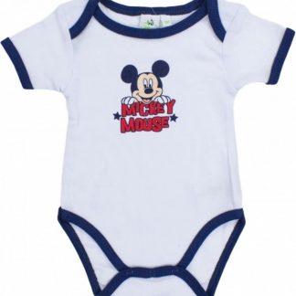 Mickey Mouse korte mouw rompertje wit/navy 18-24 maanden