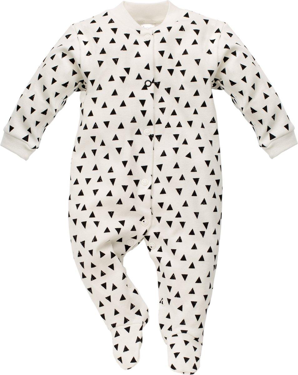Maat 62 Babykleding.Pinokio Boxpakje Happy Day Wit Met Zwarte Driehoekjes Maat 62