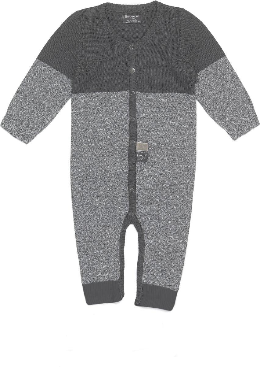 Maat 62 Babykleding.Snoozebaby Unisex Boxpakje Suit Knitted Storm Grey Maat 62
