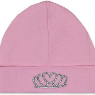 Babymuts tiara roze