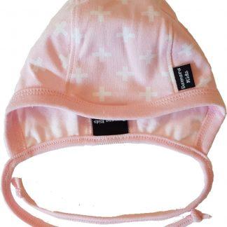 Damara Kids babymuts roze met witte plusjes