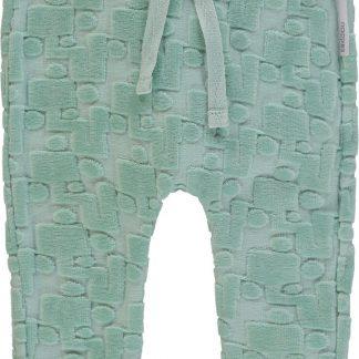 Noppies Unisex Broek sweat comfort Tarrant - Grey Mint - Maat 68