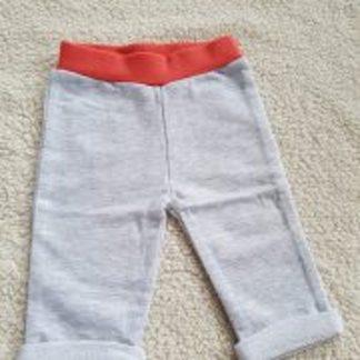 Zero2three - Unisex broek rood/grijs - maat 62