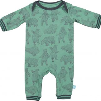 Charlie Choe Pyama Jongen Baby Jumpsuit Bear Hug Groen - Maat 50