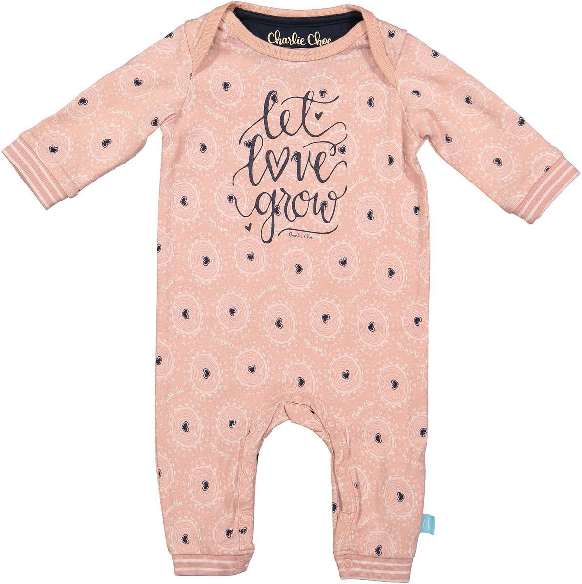 Babykleding Meisje Maat 62.Charlie Choe Pyama Meisje Baby Jumpsuit Tree Of Love Roze Maat 62