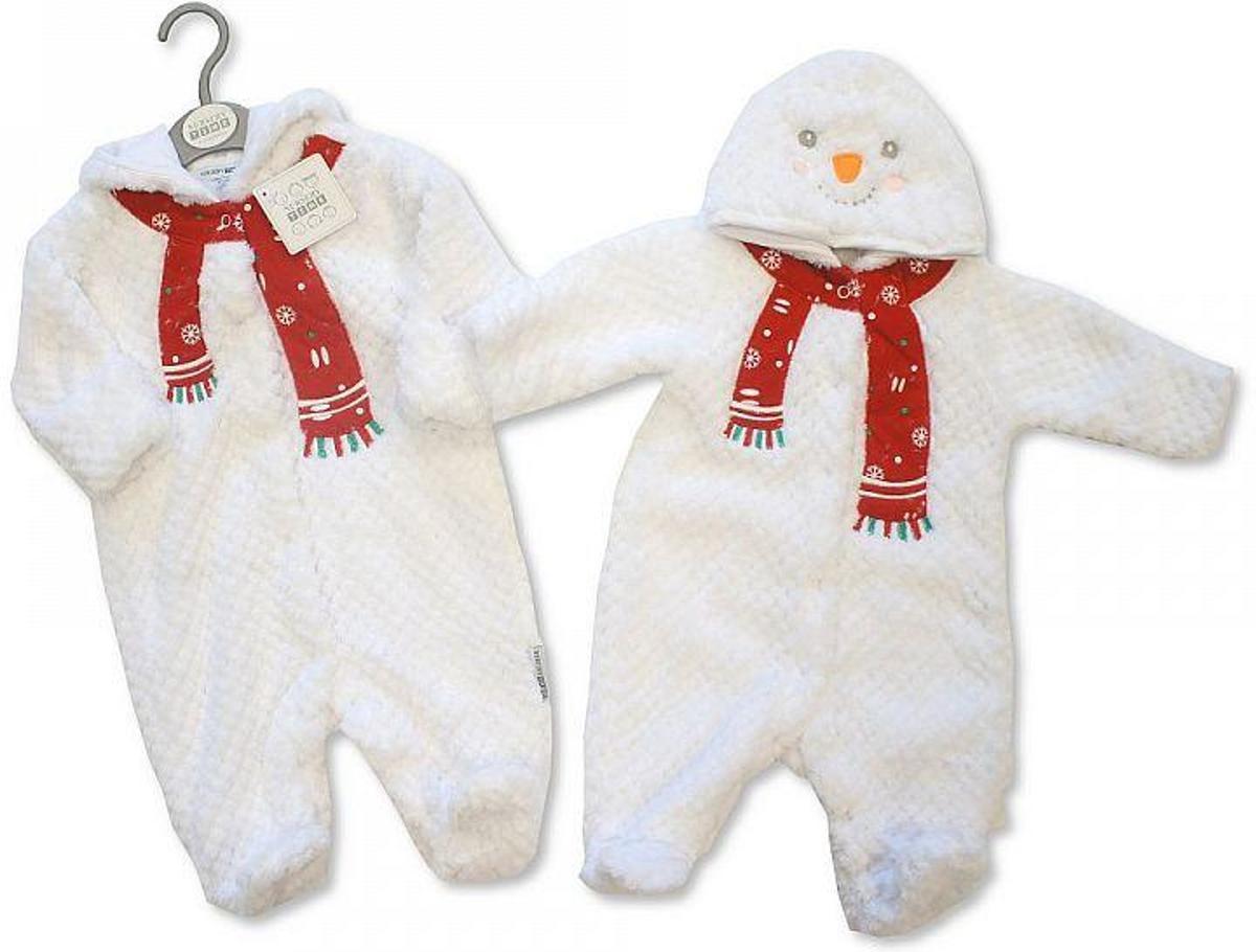 Babykleding Voor Kerst.Winter Onesie Sneeuwpop Wit Newborn Maat 50 56 Babykleding