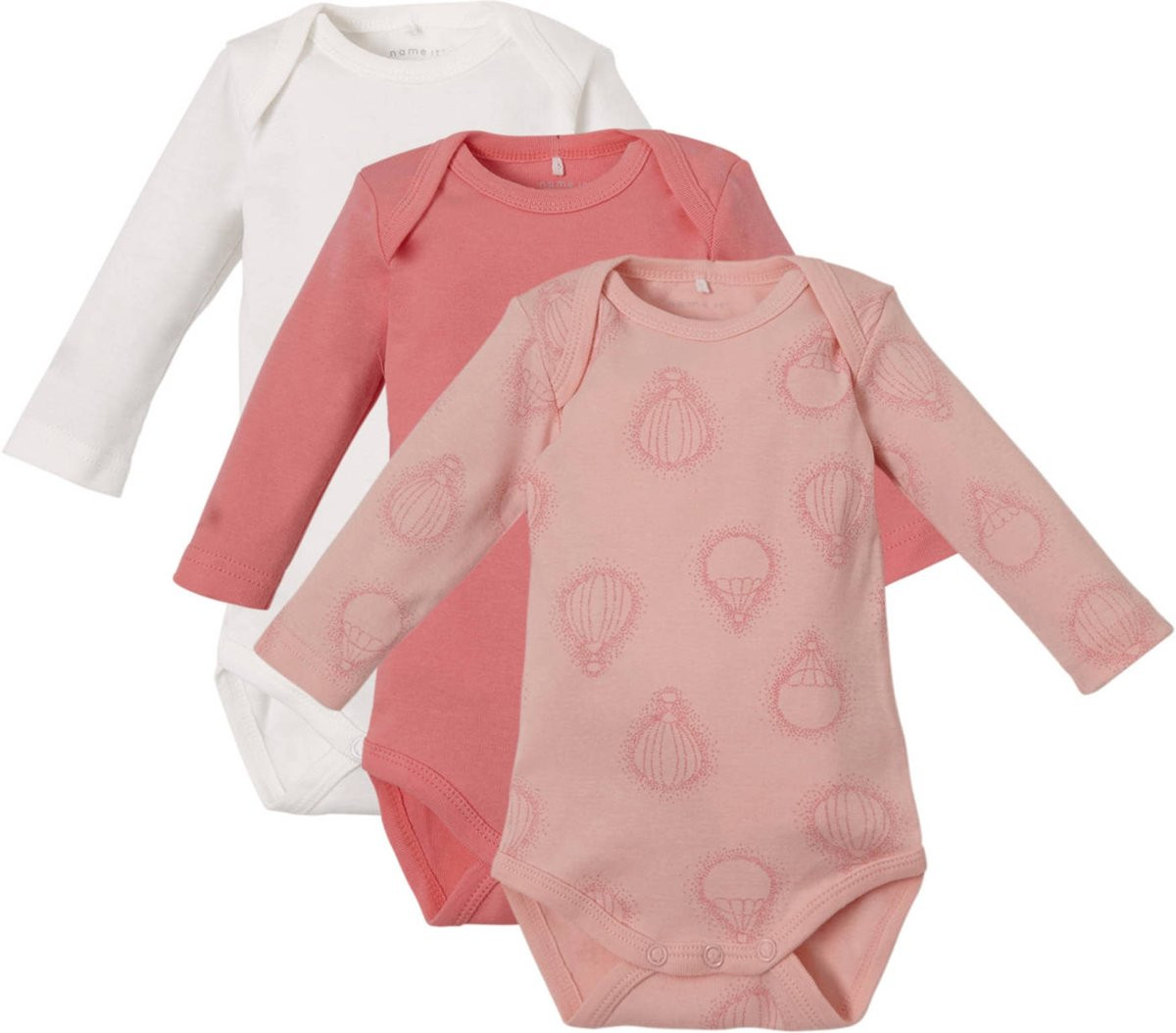 Name It Babykleding.Name It Meisjes Rompertje Strawberry Cream Maat 56 Babykleding