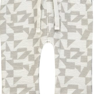 Noppies Unisex Slimift broek Pedley met all over print - Blanc de Blanc - Maat 62