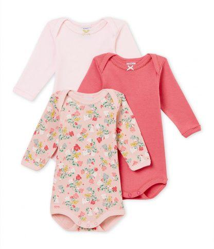 Petit Bateau Meisjes Rompertje - roze - Maat 62