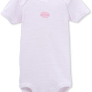 Petit Bateau meisjes rompertje roze streep korte mouw