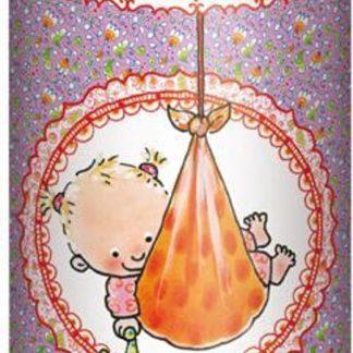 InterStat Cadeau koker Pauline Oud Rompertje voor een Lief Meisje 6x17,5 cm - Roze