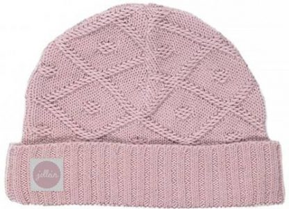 Jollein Babymuts Diamond Knit Vintage Pink