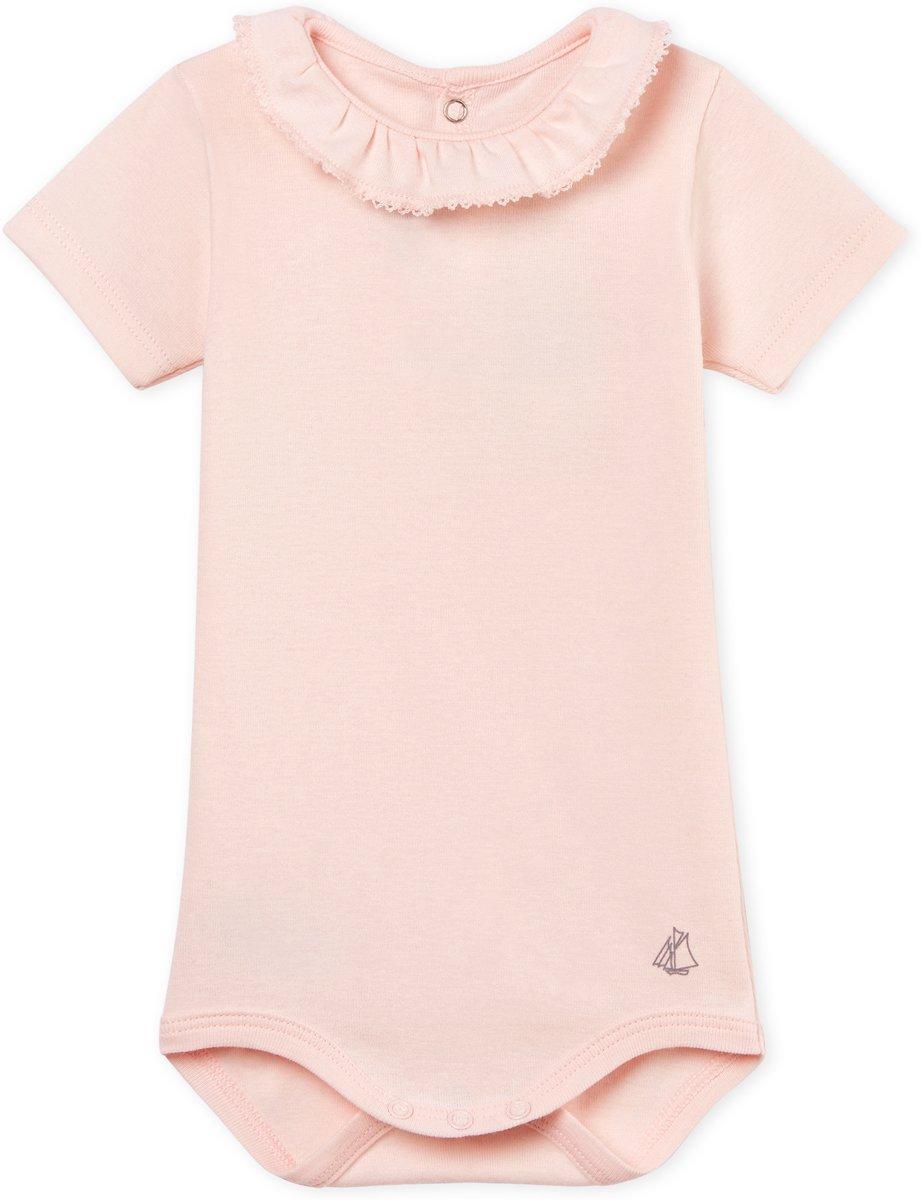 Babykleding Roze.Petit Bateau Meisjes Rompertje Roze Maat 92 Babykleding Winkel