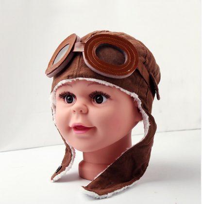 Stoere Piloten Muts voor Kinderen - Oorbeschermer - Vliegeniers Pilotenmuts - Babymuts