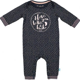 Charlie Choe Pyama Meisje Baby Jumpsuit Forest Dots Blauw - Maat 56