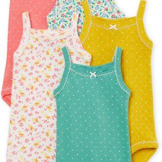 Petit Bateau Meisjes Rompertje 5-pack - roze - Maat 86