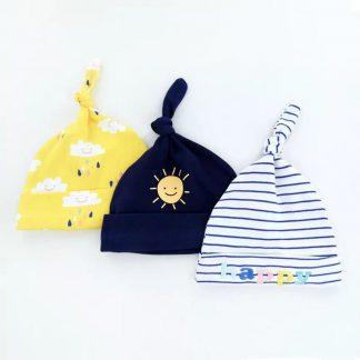 Babymuts set - happy | 3 stuks | Kidzstore.eu