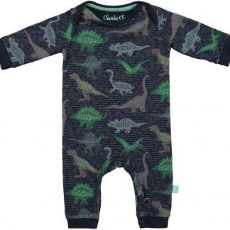 Charlie Choe Pyama Jongen Baby Jumpsuit Blue Dino Blauw - Maat 50