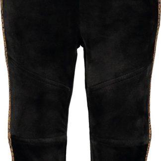 Like FLO Meisjes Velours sweat broek - zwart - Maat 80