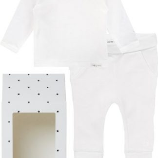 Noppies GiftSet(2delig) Unisex Shirt Wit Broek Wit - Maat 68