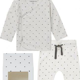 Noppies GiftSet(3delig) Unisex Shirt, Broek en Muts met Sterretjes - Maat 62