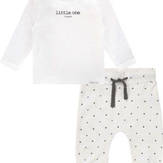 Noppies Set(2delig) Unisex Shirt Wit Broek Wit sterretjes - Maat 68