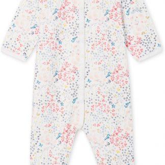 Petit Bateau Meisjes Babypyjama - ecru - Maat 6 mnd