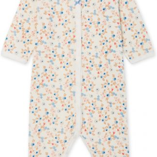 Petit Bateau Meisjes Babypyjama - ecru - Maat 6 mnd (67 cm)