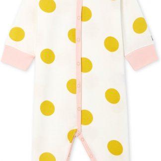 Petit Bateau Meisjes Babypyjama - geel - Maat 3 mnd (60 cm)
