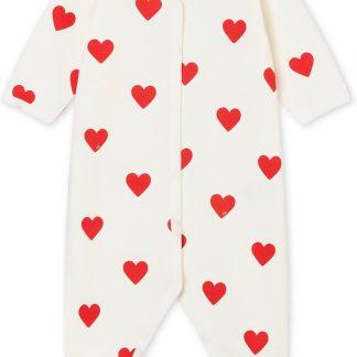 Petit Bateau Meisjes Babypyjama - rood - Maat 3 mnd (60 cm)