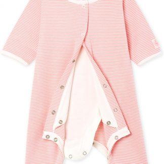 Petit Bateau Meisjes Body in pyjama - roze - Maat 12 mnd (74 cm)