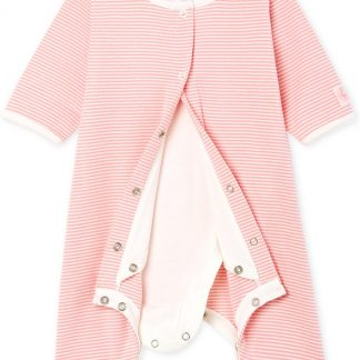 Petit Bateau Meisjes Body in pyjama - roze - Maat 6 mnd (67 cm)