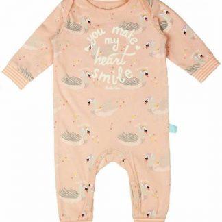 Charlie Choe Jumpsuit Pyjama Lichtroze Met Zwanen - Maat 56