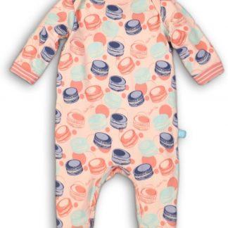 Charlie Choe Meisjes Jumpsuit Pyjama Lichtroze Met Macarons - Maat 50