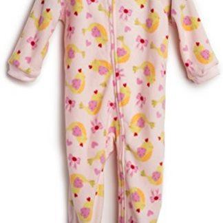 Meisjes pijama fleece met Vogels ontwerp (maat 92/2 jaar)