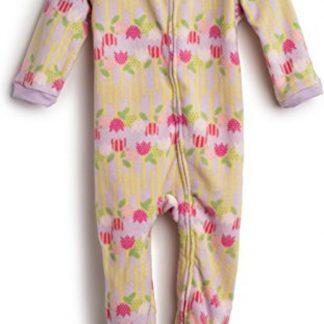 Meisjes pijama fleece met bloemen ontwerp (maat 98/3 jaar)