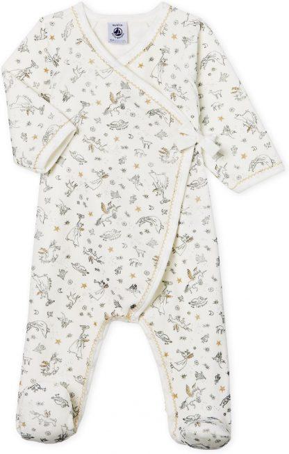 Petit Bateau Meisjes Babypyjama - wit - Maat 9 mnd (71 cm)