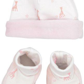 Sophie La Girafe Babymuts & Babyslofjes Girl 1-3 Maanden Roze