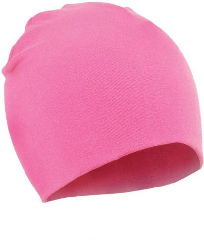 2 Stuks Comfortabele Babymuts - Roze - 19X19cm - Elastaan - Zacht - Warm - Herfst - Winter - Kindermuts