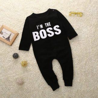 Huispakje i'm The Boss 4-6M - Baby Jumpsuit jongen Boxpak - Kraamkado