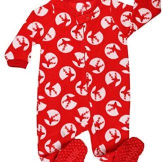 Meisjes pijama fleece met Rendier ontwerp (maat 92/2 jaar)